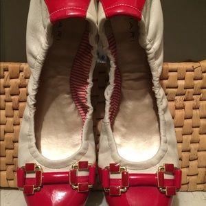 Red and cream flats/Tahiri/8.5